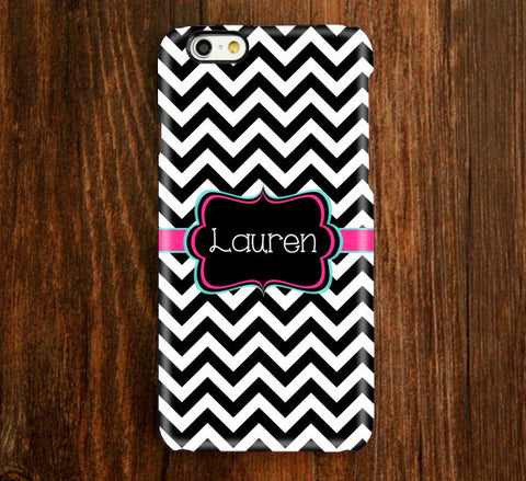 Black and White Chevron Monogram iPhone Case and Samsung Case 929 - Acyc - 1