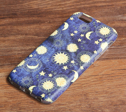Moon Stars Sky iPhone 6s 6 Case/Plus/5S/5C/5/4S Dual Layer Durable Tough Case #932 - Acyc - 1