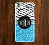 Zebra Glitter Monogram iPhone 6 Plus 5S 5 5C 4 Protective Case 936 - Acyc - 1