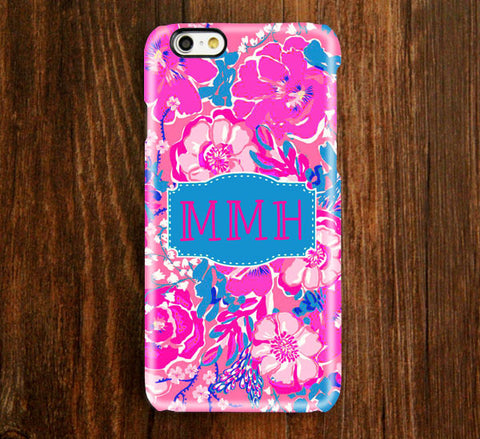 Abstract Pink Monogram iPhone 6s 6 plus Case and Samsung Case 937 - Acyc - 1
