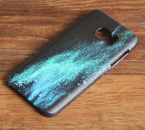 Turquoise Sparkle Samsung Galaxy S7 Edge/S7/S6 Edge Plus/S6 Edge/S6/S5/S4/Note 5/Note 4/Note 3 Case 939 - Acyc - 1