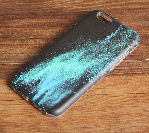 Turquoise Sparkle iPhone 6s 6 Case/Plus/5S/5C/5/4S Dual Layer Durable Tough Case #939 - Acyc - 1