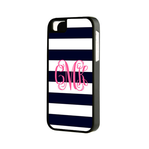 Teen Stripes Monogram iPhone 6 Plus 6 5S 5 5C 4 Tough Case 941 - Acyc - 1