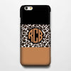 Leopard Chocolate Pattern Monogram iPhone 6S Plus 6S 6 5S 5 5C 4 Dual Layer Durable Tough Case #942 - Acyc - 1