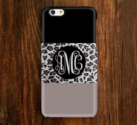 Leopard Skin Pattern Monogram iPhone 6s Plus 5S 5 5C 4 Protective Case 943 - Acyc