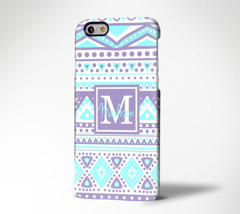Orchid Turquoise Tribal Ethnic Monogram  iPhone 6S Plus 6S 6 5S 5 5C 4 Dual Layer Durable Tough Case#945 - Acyc - 1
