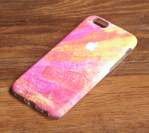 Sparkle Pink and Orange iPhone 6s 6 Case/Plus/5S/5C/5/4S Dual Layer Durable Tough Case #948 - Acyc - 1