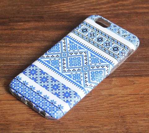 Blue Native Ethnic Aztec Tribal Pattern iPhone 6s 6 Case/Plus/5S/5C/5/4S Dual Layer Durable Tough Case #959 - Acyc - 1