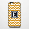 Orange Chevron Monogram iPhone 6S Plus 6S 6 5S 5C 5 4 Dual Layer Durable Tough Case #961 - Acyc - 1