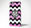 Pink Chevron Monogram Tough  iPhone 6 6 Plus 6 5S 5C 5 4 Dual Layer Case#973 - Acyc - 1
