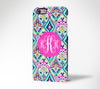 Floral Monogram iPhone 6s 6 Plus 5S 5 5C Dual Layer Durable Tough Case#975 - Acyc - 1