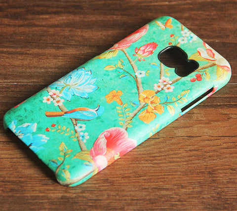 Flowers and Birds Samsung Galaxy S7 Edge/S7/S6 Edge Plus/S6 Edge/S6/S5/S4/Note 5/Note 4/Note 3 Case 978 - Acyc - 1
