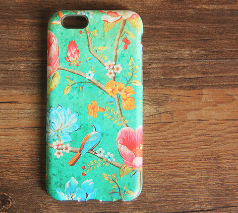 Flowers Birds iPhone 6s 6 Case/Plus/5S/5C/5/4S Dual Layer Durable Tough Case #978 - Acyc - 1