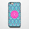 Seamless Floral Monogram iPhone 6S Plus 6S 6 5S 5 5C Dual Layer Durable Tough Case #986 - Acyc - 1