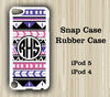 Aztec Ethnic Geometric Monogram iPod Touch 5 Case iPod Touch 4 Case - Acyc - 2