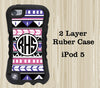 Aztec Ethnic Geometric Monogram iPod Touch 5 Case iPod Touch 4 Case - Acyc - 1