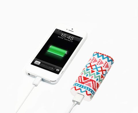 Aztec Ethnic Stripes Portable Power Bank Charger for iPhone and Samsung - Acyc - 1