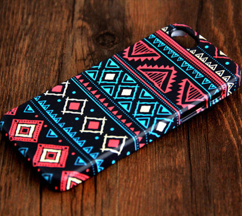 Aztec Retro Geometric  iPhone 6S Plus 6S/6 5S 5C 5 4 Dual Layer Durable Tough Case #109 - Acyc - 1