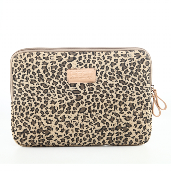 8bf73f6364bc Leopard Notebook Pouch Fabric Sleeve Bag Case for Macbook Laptop 10