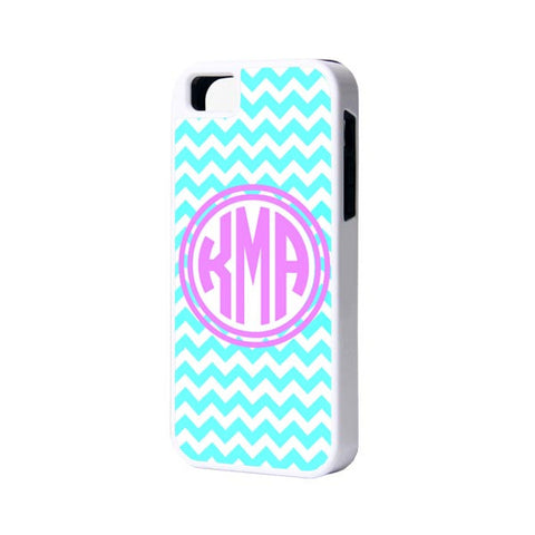 Blue Chevron Monogram iPhone Cases and Samsung Cases - Acyc - 1