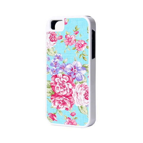 Floral Pattern Phone 6 Plus 6 5S 5 5C 4 Rubber Case - Acyc - 1
