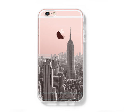 New York City iPhone 6s 6 Clear Case iPhone 6 plus Cover iPhone 5s 5 5c Transparent Case Samsung Galaxy S6 Edge S6 Case - Acyc - 1