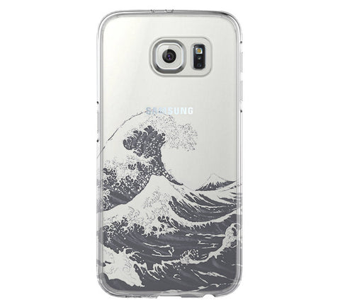 Ocean Wave Samsung Galaxy S6 Edge Clear Case S6 Case S5 Transparent Cover iPhone 6s plus Case - Acyc - 1