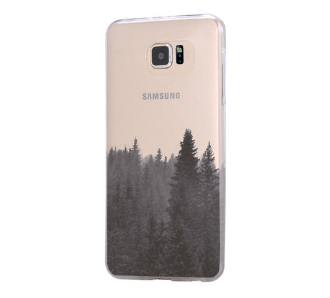 Forest Fog Samsung Galaxy S6 Edge Clear Case S6 Case S5 Transparent Cover iPhone 6s plus Case - Acyc - 1