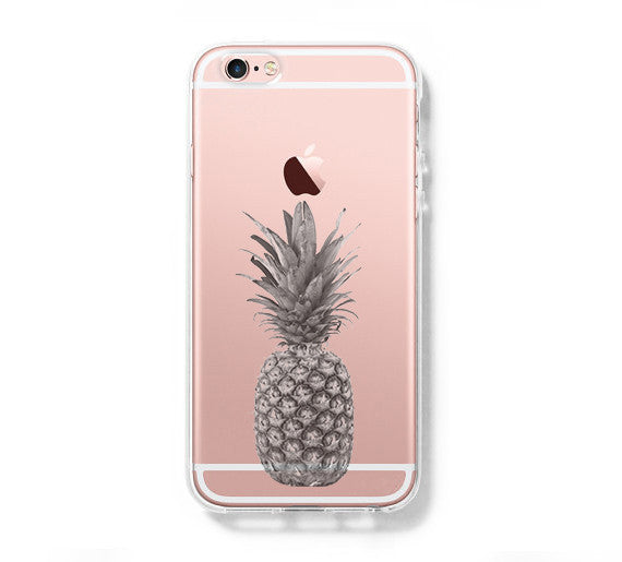 new arrival a6370 3d9e3 Pineapple Fruit iPhone 6s Clear Case iPhone 6 plus Cover iPhone 5s 5 5c  Transparent Case Samsung Galaxy S6 Edge S6 Case