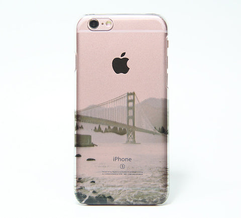 Golden Gate Bridge San Francisco California USA iPhone 6s Clear Case iPhone 6 plus Cover iPhone 5s 5 5c Transparent Case  Galaxy S6 Edge S6 Case - Acyc - 1