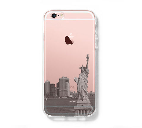 New York Statue of Liberty Skyline iPhone 6s plus Clear Case iPhone 6 Cover iPhone 5s 5 5c Transparent Case - Acyc - 1