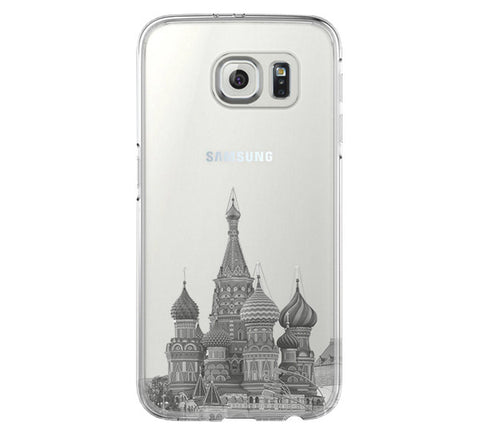 Moscow Kremlin Russia Cityscape Samsung Galaxy S6 Edge Clear Case S6 Case S5 Transparent Cover iPhone 6s plus Case - Acyc - 1