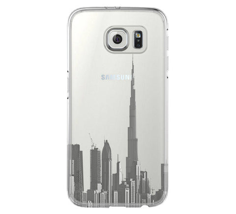 Burj Dubai of the United Arab Emirates Samsung Galaxy S6 Edge Clear Case S6 Case S5 Transparent Cover iPhone 6s plus Case - Acyc - 1