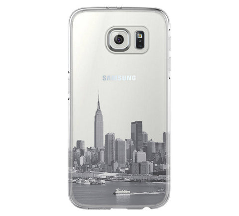 New York City Skyline Hudson River Samsung Galaxy S6 Edge Clear Case S6 Case S5 Transparent Cover iPhone 6s plus Case - Acyc - 1