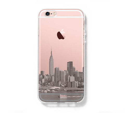 NYC New York City iPhone 6s Clear Case iPhone 6 plus Cover iPhone 5s 5 5c Transparent Case Samsung Galaxy S6 Edge S6 Case - Acyc - 1