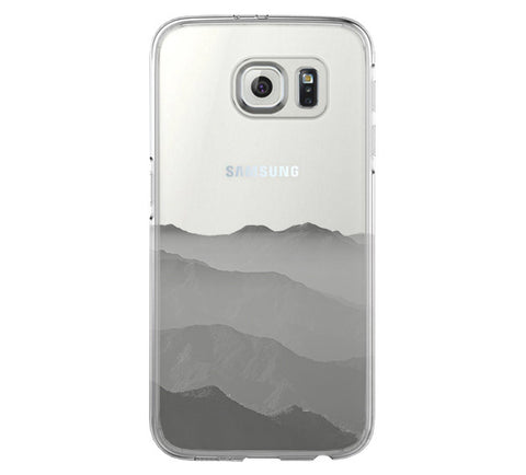 Misty Cloudscape with mountain Samsung Galaxy S6 Edge Clear Case S6 Case S5 Transparent Cover iPhone 6s plus Case - Acyc - 1
