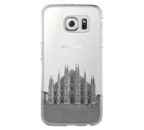 Milan Cathedral Antique Italy Samsung Galaxy S6 Edge Clear Case S6 Case S5 Transparent Cover iPhone 6s plus Case - Acyc - 1