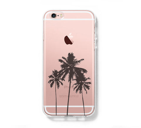 Palm Tree iPhone 6s Clear Case iPhone 6 plus Cover iPhone 5s 5 5c Transparent Case Galaxy S6 Edge S6 S5 Case - Acyc - 1