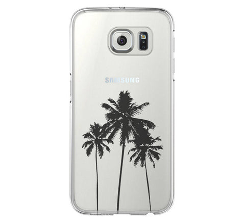 Palm Tree California Samsung Galaxy S6 Edge Clear Case S6 Case S5 Transparent Cover iPhone 6s plus Case - Acyc - 1