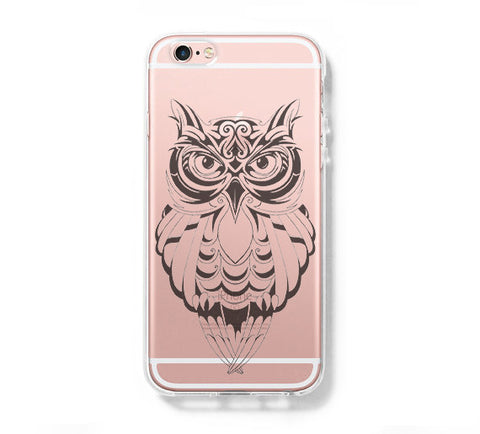 Cute Owl iPhone 6s Clear Case iPhone 6 plus Cover iPhone 5s 5 5c Transparent Case Galaxy S6 Edge S6 S5 Case - Acyc - 1