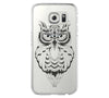 Cute OWL Animal Samsung Galaxy S6 Edge Clear Case Galaxy S6 Transparnet Case S5 Hard Case iPhone 6s Thin Case - Acyc - 1