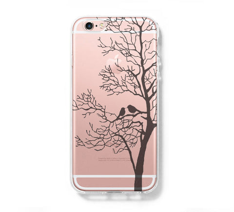 Love Bird Tree iPhone 6s 6 Clear Case iPhone 6 plus Cover iPhone 5s 5 5c Transparent Case Galaxy S6 Edge S6 S5 Case - Acyc - 1