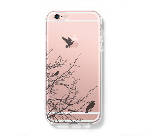 Flying Bird Tree iPhone 6s 6 Clear Case iPhone 6 plus Cover iPhone 5s 5 5c Transparent Case Galaxy S6 Edge S6 S5 Case - Acyc - 1