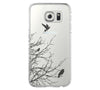Flying Bird Tree Samsung Galaxy S6 Edge Clear Case Galaxy S6 Transparnet Case S5 Hard Case iPhone Crystal  Case - Acyc - 2
