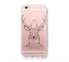 Deer Animal iPhone 6s 6 Clear Case iPhone 6 plus Cover iPhone 5s 5 5c Transparent Case Galaxy S6 Edge S6 S5 Case - Acyc - 1