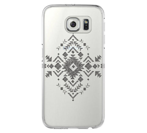 Tribal Cross Samsung Galaxy S6 Edge Clear Case Galaxy S6 Transparnet Case S5 Hard Case iPhone Crystal  Case - Acyc - 1