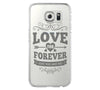 Love Forever Samsung Galaxy S6 Edge Clear Case Galaxy S6 Transparnet Case S5 Hard Case iPhone Crystal  Case - Acyc - 1