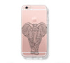 Retro Tibal Elephant iPhone 6s 6 Clear Case iPhone 6 plus Cover iPhone 5s 5 5c Transparent Case Galaxy S6 Edge S6 S5 Case - Acyc - 1
