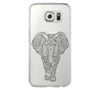 Tribal Elephant Samsung Galaxy S6 Edge Clear Case Galaxy S6 Transparnet Case S5 Hard Case iPhone Crystal  Case - Acyc - 2