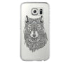 Tribal Wolf Samsung Galaxy S6 Edge Clear Case Galaxy S6 Transparnet Case S5 Hard Case iPhone Crystal  Case - Acyc - 1